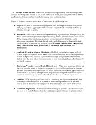 Valid Sample Resume For Graduate School Application Objective Onda