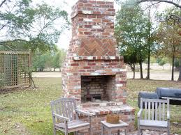 hd pictures of outdoor red brick fireplace