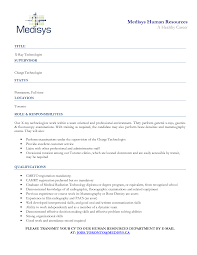 Amazing X Ray Tech Resume Ideas Simple Resume Office Templates