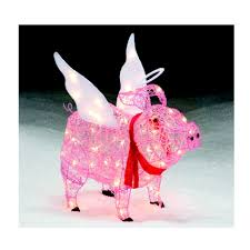 Christmas Decorations Sears Pig Angel Lawn Figures Spread Smiles This Christmas With Sears