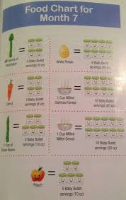 Baby Serving Size Chart Perfect Purees Serving Sizes For Stage One Foods 7 4 Months