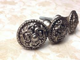 Pewter Kitchen Door Handles Silver Antique Style Primitive Pewter Knobs Dresser Knob Drawer