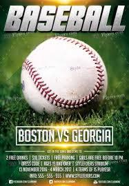 Free Baseball Flyer Template Baseball League Psd Flyer Template