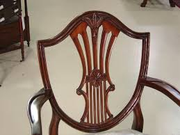 elegant shield back chairs small vine size shield back dining room chairs in solid gany antique