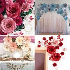 Paper Flower Wedding Decorations 30 40cm 1pcs Paper Flower Backdrop Wall Large Rose Flowers Wedding