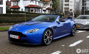 aston martin vanquish cobalt blue. cobalt blue v12 vantage roadster in knokke u2013 front right aston martin vanquish g
