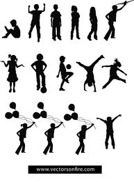 Vectors Silhouettes Free Playing Children Silhouettes 15 Vectors Clipart And Vector