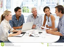 meeting free mixed group in business meeting stock image image of figures