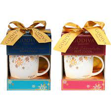 Our lady godiva ceramic coffee mugs come in two sizes. Godiva Holiday Cocoa Mug Gift Set Beverages Coffee Food Gifts Shop The Exchange