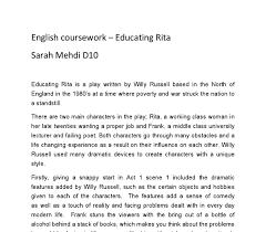 educating rita essays who can write an essay for me related gcse educating rita essays
