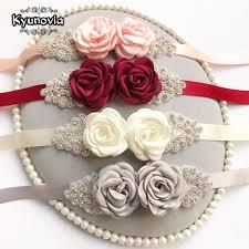 Kyunovia Pink White Flower Belts For <b>Women Girl</b> Flower Style ...