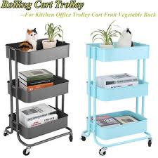 office trolley cart. Brilliant Trolley 10 Of 12 3 Tier Rolling Storage KitchenOffice Trolley Cart Fruit Vegetable  Rack Wheels With Office