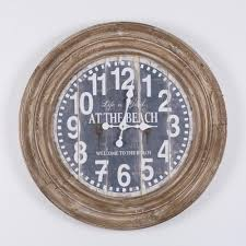 yosemite home decor life is good distressed brown oversize wall clock