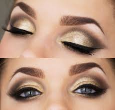 makeup for gold and black dress photo 2
