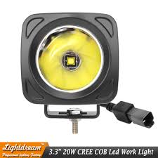 20w Cree Led Work Light Us 17 91 10 Off 3inch 20w Square Led Work Light 12v Spot Lamp For 4x4 Offroad Atv Truck Tractor Motorcycle Driving Fog Lights External Light X1 In
