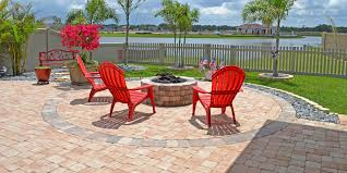 paver patio with gas fire pit.  Pit Paver Patio With Integrated Gas Fire Pit And With N