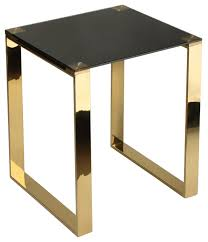 cortesi home remini end table gold metal and black glass contemporary side tables and end tables by cortesi home