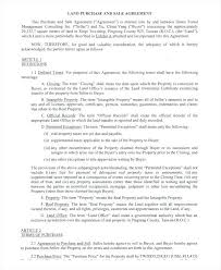 Property Purchase Agreement Template Mesmerizing Land Purchase Agreement Template Homefit
