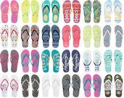Details About Aero Aeropostale Aero Logo Womens Flip Flops Sandals Thongs Sizes 6 7 8 9 10