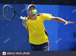 Olympische Spiele 2020 in Tokio - Tennis - Herreneinzel - 1. Runde - Ariake  Tennis Park - Tokio, Japan - 25. Juli 2021. Daniel Galan aus Kolumbien im  Einsatz bei seinem ersten