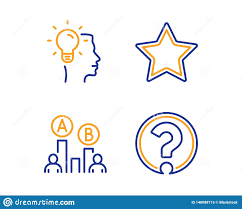 Star Ab Testing And Idea Icons Set Question Mark Sign