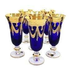 blue champagne glasses dollar tree set of 6 royal crystal s