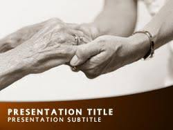 Royalty Free Nursing Home Powerpoint Template In Orange