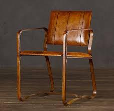restoration hardware buckle chair in antique chestnut