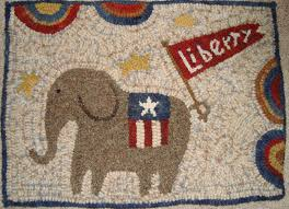 with this being an election year this hooked rug would make the perfect conversation piece and political statement in folk art form