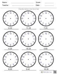 Pictures on Telling Time Math Worksheets, - Easy Worksheet Ideas