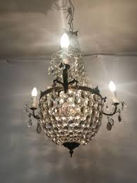 vintage italian crystal chandelier 2