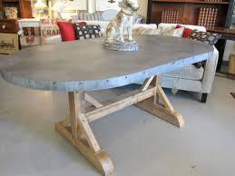metal top dining table riverton stainless steel top dining room pertaining to zinc top dining table