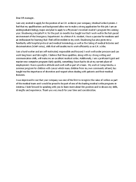 32 Cover Letter For Shadowing A Doctor Cover Letter Examples For