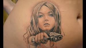 тату с пистолетом 3d Youtube