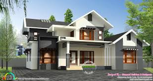 modern sloped roof house plans