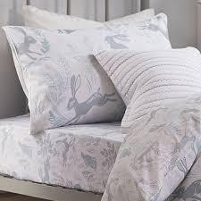 kids bianca 100 cotton soft hare print duvet cover set duck egg blue