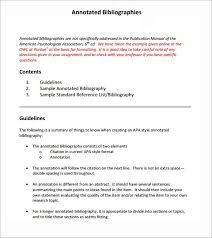 Annotated Bibliography Template Free 5 Annotated Bibliography Samples In Word Pdf