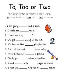 Collections of Worksheets To Learn English, - Easy Worksheet Ideas