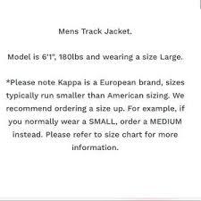 Kappa Size Chart Kappa 222 Banda Black Gold And White Jacket Nwt