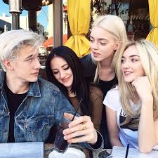 Male Model Lucky Blue's Sisters, Pyper, Starlie, and Daisy Smith | Vogue