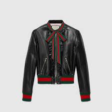 gucci jacket womens. ruffle leather bomber jacket gucci womens u