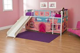 princess bunk beds with slide. Brilliant Princess Amazoncom DHP Curtain Set For Junior Loft Bed With Princess Castle  Design Kitchen U0026 Dining To Bunk Beds With Slide E