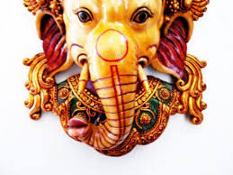 Decorative Face Masks large Golden Decorative Wall Mask Ganesh Face Ganesha wall 27