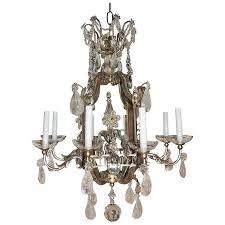 transitional paa bagues jansen eight light gilt rock crystal chandelier