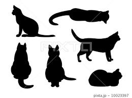 猫シルエットセットのイラスト素材 10023397 Pixta