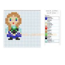 Small Perler Bead Patterns Impressive Princess Anna From Disney Frozen Cartoon Small Perler Beads Pattern