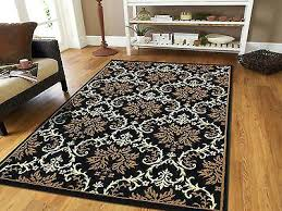 large area rugs contemporary black blue rug mat 5x7 indoor outdoor