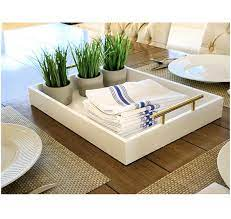 Coffee table trays and storage trays are functional and decorative. Esther Decorative Coffee Table Tray White And Gold Bargain Junction Liquidation Store