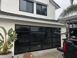 insulated grey tinted glass garage door