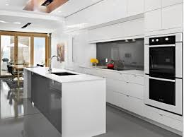 white modern kitchen. Tile Countertops White Modern Kitchen Cabinets Lighting Flooring Sink Faucet Island Backsplash Mosaic Composite Oak Wood Light Grey Windham Door